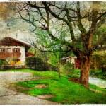 Vintage photo of house in Austria — Stock Photo #30434447