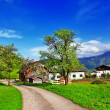 Scenic Alpine countryside, Austria — Stock Photo
