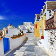 Colors of Greek islands - Santorini, Oia village — Stock Photo