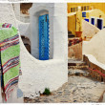 Traditional streets of Santorini — Stock Photo