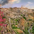 View of ancient Matera, cave city. Balsilicata, Italy — Stock Photo