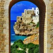 Scenic Italian coast -Polignano al mare, Puglia — Stock Photo