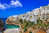 Polignano al mare - scenic small town in Puglia, Italy — Stock Photo