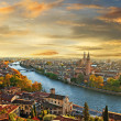 Stock Photo: Beautiful romantic Verona on sunset.