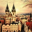 Prague on sunset — Stock Photo
