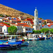 Stock Photo: Halki -pictorial small island of Dodecanese, Greece