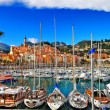 Menton - colorful port town, border France- Italy — Stock Photo