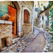 Stock Photo: Old charming streets of Provance villages, France