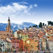 Stock Photo: Colors of Souther Europe - Menton - beautiful town, border Franc