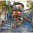 Stock Photo: Charming villages of France provinces