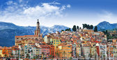 Colors of Souther Europe - Menton - beautiful town, border Franc — Stock Photo