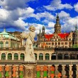 Dresden, Germany,view from Zwinger museum — Stock Photo