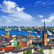 Scenic panorama of the Old Town (Gamla Stan) in Stockholm, Swed — Stock Photo #38006739