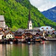 Hallstatt - beautiful alpine village,Austria — Stok Fotoğraf #38006769