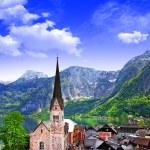 Hallstatt - beautiful alpine village,Austria — Stock Photo