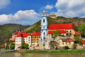 Durnstein near Vienna, lower Austria, pictoial Wachau valley — Stock Photo