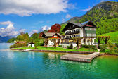 Beautiful lakes of Austria. st.Wolfgang — Stock Photo