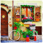 Pretty streets of small italian villages — Stock Photo