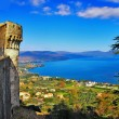 View of lake from Castle Odescalchi di Bracciano, Italy — Stock Photo