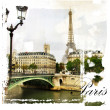 Stock Photo: Paris, artistic vintage style picture