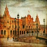 Seville, plaza Espana on sunset, — Stock Photo #38859095