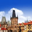 Beautiful medeival Prague, view of Charles bridge — Stock Photo #38869935