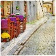 Charming old streets — Stock Photo