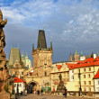 Old Prague, Charles bridge — Stock Photo