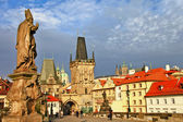 Old Prague, Charles bridge — Stock Photo