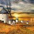 Windmils of Spain, Castilla la mancha — Stock Photo