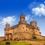 Castle Manzanares el Real, Madrid ,Spain — Stock Photo