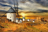 Windmils of Spain, Castilla la mancha — Stock Photo