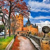 Fairy castle Alcazar, Segovia, Spain — Stock Photo