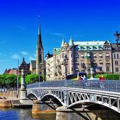 Pictorial canals of Stockholm — Stock Photo