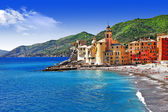 Italian holidays on pictorial Ligurian coast - Camogli — Stock Photo