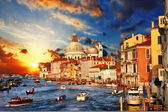 Amazing Venice on sunset.View of Grand canal — Stock Photo