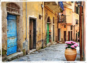 Old streets of Italian villages — Stock Photo