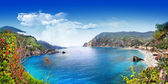 Bella Italia series - panorama of Monterosso al mare, Cinque terre — Stock Photo