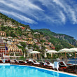 Luxury vacation in Amalfi coast, Italy, Positano — Stock Photo