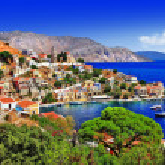 Постер, плакат: Beautiful Greek islands Symi Dodecanese