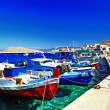Colors of Greece series - traditional fishing boats — Stock Photo
