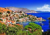 Beautiful Greek islands - Symi, Dodecanese — Stock Photo
