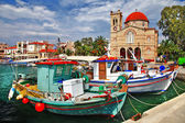 Pictorial idyllic greek islands - Aegina  — Stock Photo