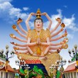 Temple Laem - Statue of Shiva on Koh Samui island in Thailand — Stock Photo