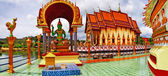 Templo budista, panorama de wat plai laem na ilha de samui. tha — Foto Stock