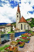 Charming Italy series- flower market in Chiusa, north of Italy — Стоковое фото