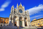 Beautiful medieval city in Tuscany Siena - view of  Duomo — Stock Photo