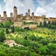 San Gimignano panorama - medieval town of Tuscany, Italy — Stock Photo #48630421