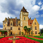 Elegant medieval Castle of Milandes, Dordogne . France — Stock Photo