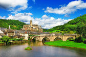 Estaing -  one of the most picturesque villages in France. — Stock Photo
